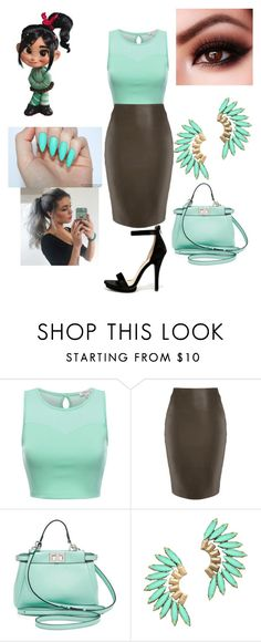 """""""Untitled #234"""" by babygirlflores ❤ liked on Polyvore featuring Fendi, Elizabeth Cole and Wild Diva"""