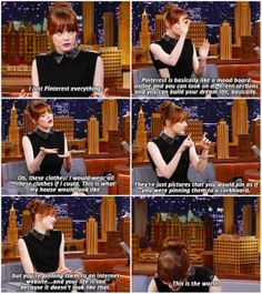 Pinterest described by Emma Stone.