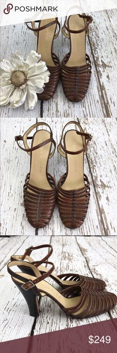 "SALE Bottega Venetta Brown Leather Sandals Gorgeous  Bottega Venetta Brown Leather Sandals with a 3"" chunky heel Amazing Leather High Quality Heels Great Condition These will soon become your Favorite go to Heels Super Comfortable and Go with Everything Bottega Veneta Shoes Sandals"