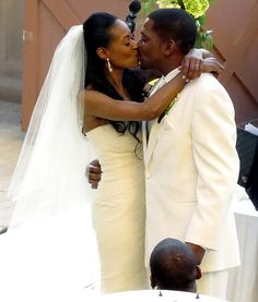 Mekhi Phifer and Reshelet Barnes tied the knot at the Montage Hotel in Beverly Hills. Silver Wedding Bands, Star Wedding, Wedding Pics, Dream Wedding, Fantasy Wedding, Wedding Couples, My Black Is Beautiful, Black Love, Beautiful Bride