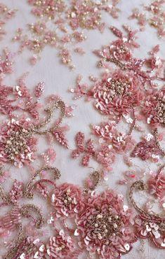 Fine rose boucle thread x 10 mètres-Point de Croix Broderie
