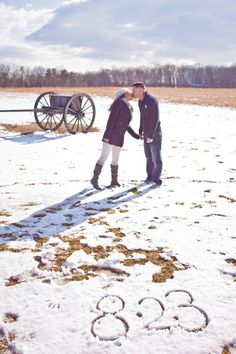 winter engagement pictures.  Looks like we will be taking winter engagements pics at this rate:)