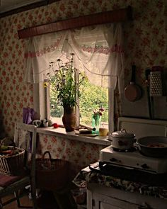 """""""A kitchen in our old summer cottage in Russia - an interior in nice rustic style occured naturally - and lots of happy childhood memories"""""""