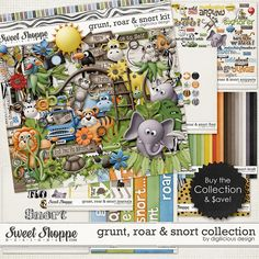 Grunt, Roar & Snort COLLECTION by Digilicious Design