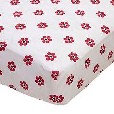 Bananafish® Poppy Fitted Crib Sheet