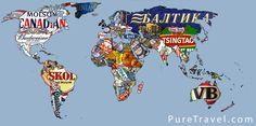 La carte du monde des marques de biere