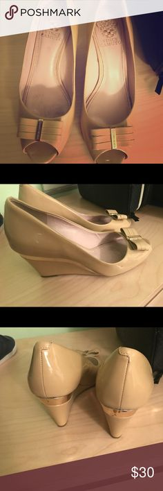 Vince Camuto Nude Pink Wedges Very classy nude pink wedges Vince Camuto Shoes Wedges