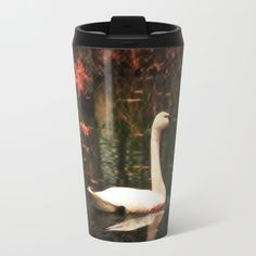 Portrait of a Swan Metal Travel Mug