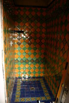 mexican tile bathroom | Mexican Tile In The Shower, Mexican Home Decor Gallery. Mission ...