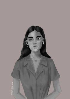 #digital #krita #portrait #b&w #grayscale #drawing