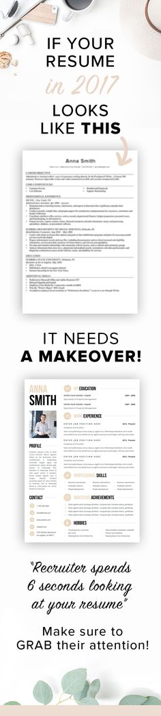 Minimalist Resume Template 4 Pages Cv template and Fonts - create resume format