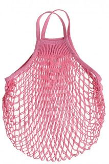 kitchen, food, grocery shopping, grocery bag, pink, Netted Shopping Bag, reusable bag, farmers market