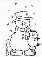 Makin Snow Friends Rubber Stamp