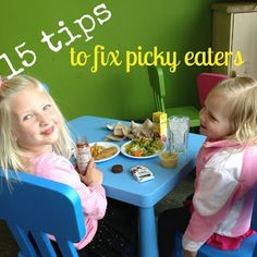 Really creative ideas to encourage picky eaters to eat (without a power struggle). PLUS a list of meal/snack ideas for toddlers.