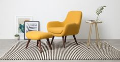 Moby Accent Chair, Yolk Yellow | made.com