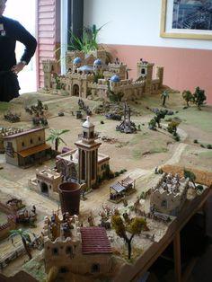 Gaming castle for tabletop miniatures game Warhammer Terrain, 40k Terrain, Game Terrain, Wargaming Terrain, Vitrine Miniature, Free To Use Images, Warhammer Fantasy, Expo, Tabletop Games