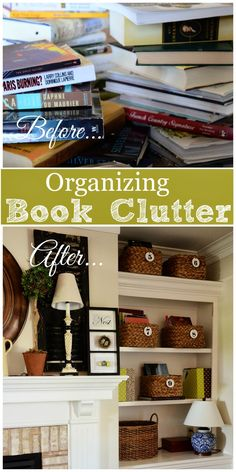 HOW TO ORGANIZE BOOK AND MAGAZINE CLUTTER! Lots of ideas