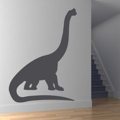 Brontosaurus Neck Stretched Dinosaurs Wall Stickers Wall Art Decal - Brontosaurus - Dinosaurs - Kids & Children