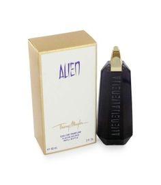 Alien is een oriëntaals, houtig  parfum. Het is een van de vier geuren die een smaak als basis hebben in plaats van een geur. De smaakgeur die overheerst in Alien is die van romige gezouten karamel. Verder zul je sporen ontdekken van onder andere jasmijn, noten en amber.