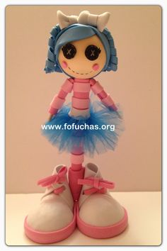 Lalaloopsy Fofucha pen.100% handmade.would make any little girl happy to own a Lalaloopsy pen. One of a kind. You can order yours info@fofuchas.org #fofuchas #lalaloopsy #crafts