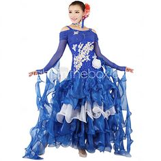 Wondrous Ballroom Dance Dressesskirts Womens Performance Chiffon Milk Short Hairstyles Gunalazisus