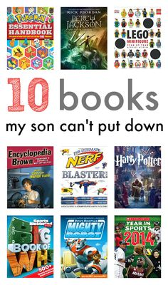 Books My Son CAN'T Put Down!   10 great books for 6-9 year olds. Perfect to wrap up for your son or daughter!
