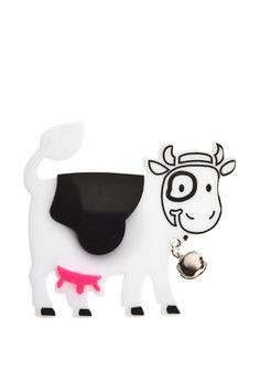 Happy Cow Brooch,Plexiglass Jewelry,Lasercut Acryllic,Gifts Under 25