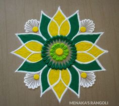 Design Discover Easy And Beautiful Rangoli Design Easy Rangoli Designs Videos, Rangoli Designs Simple Diwali, Rangoli Simple, Indian Rangoli Designs, Rangoli Designs Latest, Rangoli Designs Flower, Free Hand Rangoli Design, Rangoli Border Designs, Small Rangoli Design