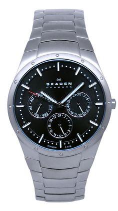 Skagen Men's Titanium, Silver / Black by Skagen @ Luxe Yard