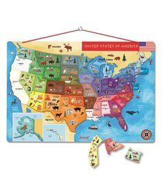 Magnetic Drawing Board Zulily Gift Ideas Pinterest - Magnetic map of us