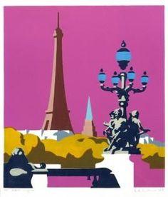 Paris Poster, City Illustration, Architectural Features, Environmental Art, Wood Print, Illustrators, Pop Art, Street Art, Tower