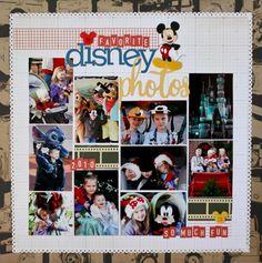 Another Nicole S from Studio Calico layout, LOVE School Scrapbook Layouts, Disney Scrapbook Pages, Scrapbook Sketches, Travel Scrapbook, Scrapbooking Ideas, Scrapbook Photos, Disney Time, Disney World Trip, Walt Disney