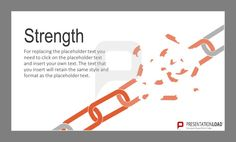 A chain is only as strong as its weakest link #strength #chain #metaphor http://www.presentationload.com/metaphors-flat-design-powerpoint-templates.html