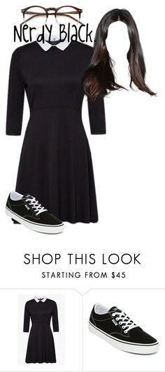 """""""Nerdy Black."""" by thefearlesscassie209 ❤ liked on Polyvore featuring French Connection, Vans and Wildfox"""