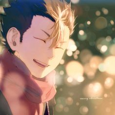 before the christmas tree. / merry christmas! Fuente:chellokoru #haikyuu!!