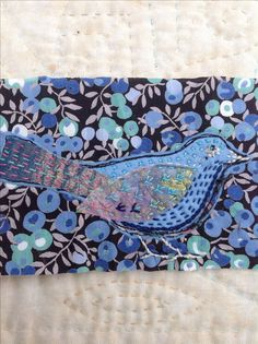 Quick stitched bird on Liberty