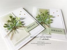 Paper Daisy, Karten Diy, Leaf Cards, Coffee Cards, Good Tutorials, Stamping Up Cards, Rubber Stamping, Tampons, Making Memories