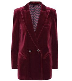 """Blazé is our go-to label for luxe blazers and we're overly excited about this exclusive style, crafted in Italy from plush velvet in a deep burgundy hue the label calls """"jealousy wine"""". - @ www.mytheresa.com"""