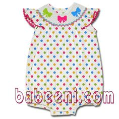Angle sleeves hairbow handsmock baby bubble - DR 987