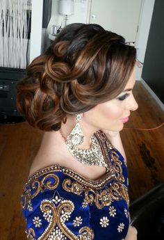 Textured Full Updo - Indian Wedding Hair