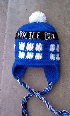 Tardis Hat Free Crochet Pattern