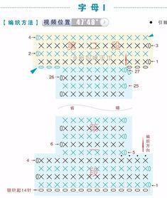 Häkelfieber: ABC zum Spielen: Buchstabe I Crochet Alphabet Letters, Crochet Letters Pattern, Letter Patterns, Cross Stitch Alphabet, Craft Patterns, Cross Stitch Embroidery, Crochet Patterns, Bobble Crochet, Bobble Stitch