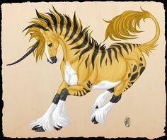 Al'haya: Plains Unicorn by =ArtistMeli on deviantART