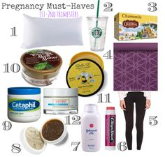 Pregnancy must-haves for first and second trimesters | via MyHeartistry