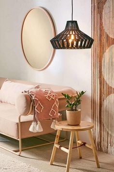 Pendant Light | bohemian home decor, living room boho inspiration