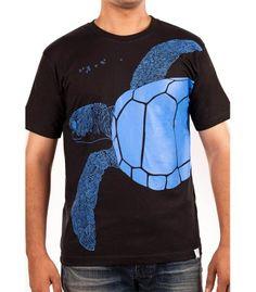Hidden treasure - Black Tee (Male), Wildlife inspired art, Sea Turtles, Olive Ridley, Conservation, Velas, Save sea turtles