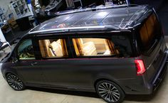 Official: Larte Design Mercedes-Benz V-Class Black Crystal - GTspirit Mercedes Benz Vito, Mercedes Van, Mercedes Black, Private Jet Interior, Mini Bus, Party Bus, Geneva Motor Show, Top Gear, Black Crystals