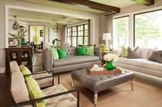 neutral living bold green