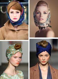 Se coiffer façon rétro avec un foulard, des coiffure facile à faire avec un foulard