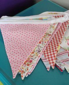 Upcycled fabric banners by Orla Galligan, 2013, Cavan, Ireland.